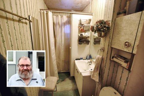 Badet til Harald Løkken er så godt som originalt siden Randgård 1 stod ferdig i 1957. Nå skal det til pers og det gleder han seg til.