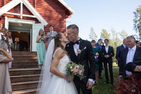 I 2018 giftet Astrid Mangen Ingebrigtsen seg med Filip Ingebrigtsen. Mandag ble de foreldre for første gang. Foto: Jørgen Kirsebom