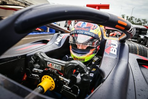 Dennis Hauger (17) fra Aurskog tok sin første pallplass i Formel 3 søndag.