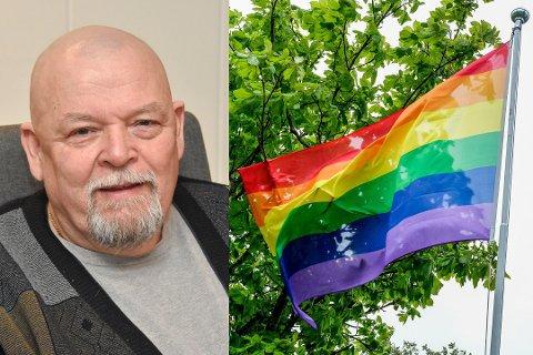 Geir Olsen (Sp) har ikke mistet nattesøvnen etter debatten om bruk av regnbueflagg i kommunens flaggstang.