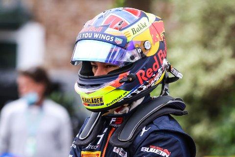 Dennis Hauger er plukket ut til å delta i konkurransen om å bli Bilsporttalentet 2020. Her er han avbildet under en av Formel 3-løpene tidligere i høst.