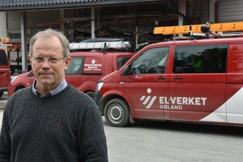 Konsernsjef Geir Rismyhr i Høland og Setskog Elverk SA tar selvkritikk for manglende informasjon etter strømbrudd på Hemnes. Arkivfoto: Øyvind Henningsen