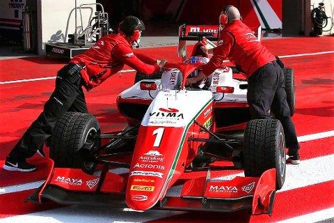 OPPLØFTENDE: Den første av to testhelgene foran årets Formel 3-sesong ble oppløftende for Dennis Hauger.