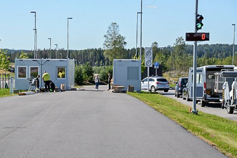 Teststasjonen i Ørje: Fra fredag ettermiddag øker marker kommunen bemanningen ved teststasjonen.