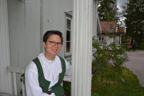 Fagkonsulent/stedsansvarlig ved Aurskog-Høland bygdetun, Christin Johansen, gleder seg til å ønske små og store velkommen på søndag.