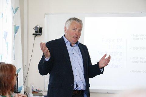 Peter Talseth (Sp) er lokalpolitiker i Sandnessjøen. sin orientering viste han til hvorfor det er så viktig med et sykehus på kysten.