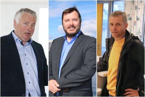 VIL JOBBE FOR LØSNING: Ordførerkandidatene i Alstahaug Peter Talseth (Sp), Stig Tore Skogsholm (Høyre) og Ole Gerhard Rinø (Ap). q