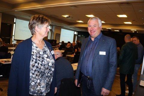 ORDFØRERE: Berit Hundåla i Vefns og Peter Talseth i Alstahaug er begge Senterparti-ordførere på Helgeland. Partiet gjør det godt i hos de lengst nord i landet.