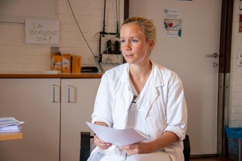 TILLITSVALGT: Ingeborg Steinholt er tillitsvalgt for Yngre legers forening ved Sandnessjøen sykehus.
