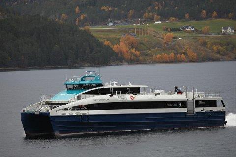 Ny båt: Den splitter nye hurtigbåten MS Fredrikke Tønder-Olsen skal inn i Helgelandspendelen.