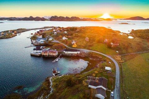 Stort: Eiendommen på Seløy er på hele 250 dekar, inkludert flere egne øyer.