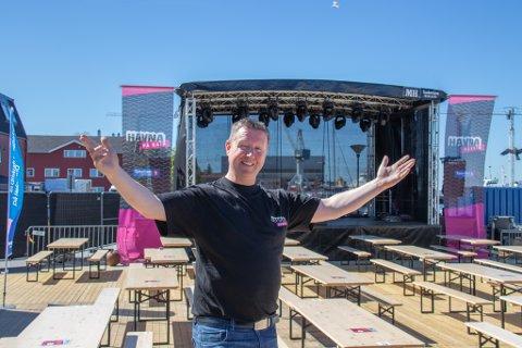 BLID SOM SOLA: Festivalsjef Morten Rudi Johansen er klar til å ønske konsertsultne gjester til et splitter nytt konsept: Havna på Kaia.