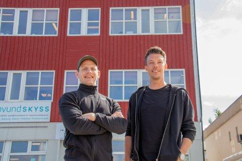 STARTET PÅ KAIKANTEN: Mats Ola Martinsen og Thomas Nilsen i Feel24-kjeden slår seg opp i Sandnessjøen, og har nå funnet seg lokaler.