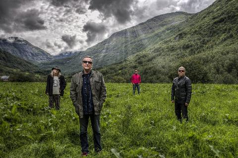 FREAK: Odd Johan Horseng (t.v.), Reidar Sørensen, Øystein Johansen og Frank Marstokk feirer 50 år med rockemusikk.
