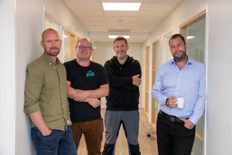 LOKALKAMERATER: Anders Bjerke, Svein Gunnvald Rosenvinge Ingebrigtsen, Jan Petter Bjørnvik og Robert Blomsø er godt fornøyde i nye lokaler i Øverbyen.