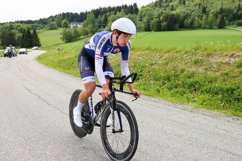 Norgescup sykkel på Stjørdal. Daniel Årnes, Kristiansands CK