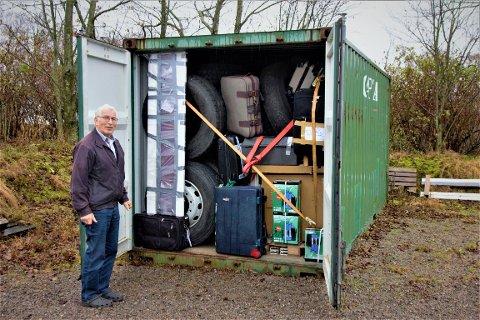 FULLT: Det finnes ikke mer rom i containeren, men foreløpig er den for dyr til å bli sendt avgårde.