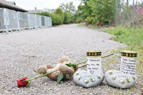 VART DREPEN LIKE VED HEIMEN: 13 år gamle Sunniva Ødegård blei funnen død ved denne stien på Varhaug.