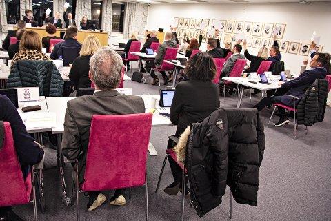 FLEIRTAL: 17 av 33 representantar i Hå kommunestyre viser at dei støttar fellesforslaget frå KrF, Senterpartiet og Høgre.