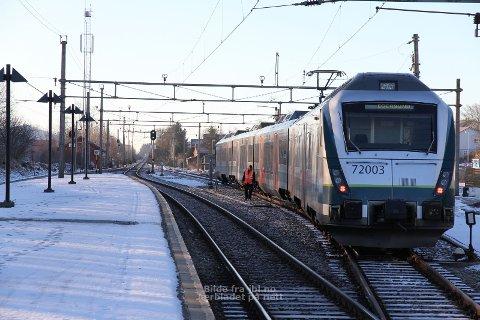 Sporet av: Toget mellom Stavanger og Egersund sporet av i morgentimene i går.