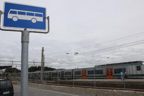 Buss for tog: I helga utføras det arbeid på jernbanen mellom Klepp og Stavanger.