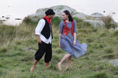 Veslemøy (Gerd Elin Birkeland) i dansen med Jon (Quyen Nguyen), under ei tidlegare oppsetting.