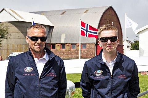 RADARPAR: Martin Sveinsvoll (t.v.) og Jone Ravnås Mathisen utgjør S & M Sky Team.