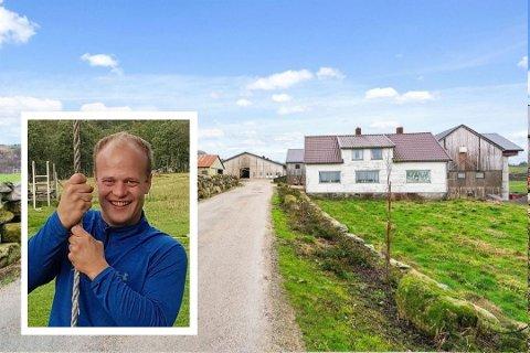 UNG KJØPAR: 30 år gamle Ingvar Garpestad frå Lye har storgarden på Høyland, på 760 dekar. 177,7 dekar er fulldyrka.