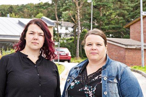 VIL HA TO SKULAR: Susanne Malmin Sele (t.v.) og Iselin Gjære Lothe meiner ein storskule i Bore-krinsen er ei dårleg løysing på alle måtar.