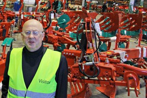 VARSLER PERMITTERINGER: Administrerende direktør Magne Svendsen ved Kverneland Klepp. Bildet er tatt våren 2018.