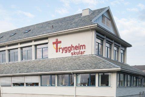 PRIVATSKULE: Den vidaregåande skulen på Nærbø fekk truslar via Instagram.