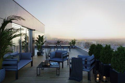 SELT: Prosjektet Vesterhagen er teikna av Sjo Fasting Arkitekter og rommar 34 leilegheiter, fordelte på to blokker. Nå er den dyraste selt.