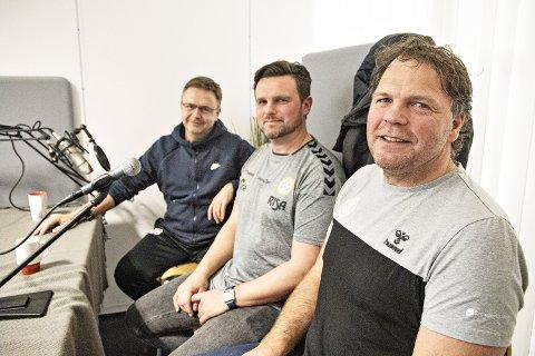 MYE KUNNSKAP:  Mange spennende tanker og mye kunnskap fordelt på disse tre. Alf Ingve Berntsen (f.v.), Jonas Edland og Rune Haugseng.