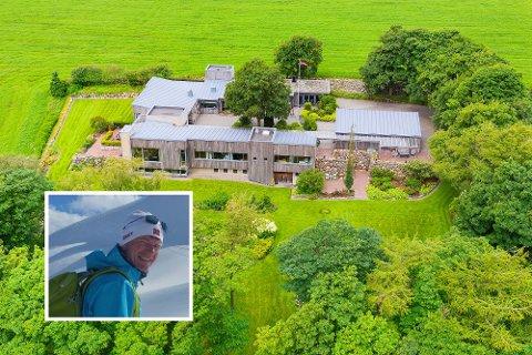Denne praktfulle eiendommen på Line utenfor Bryne, er solgt for 14 millioner kroner fra Terje Hamre og Kristina Sekkenes Hamre, til Oscar Maaseide og samboeren Solveig Stråtveit.