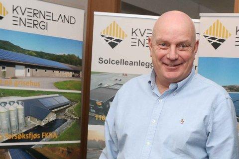 KONTRAKT TIL 10 MILLIONER: Daglig leder Aksel Kverneland i Kverneland Energi AS er stolt av at Stavangerregionen Havn har valgt dem som leverandør.