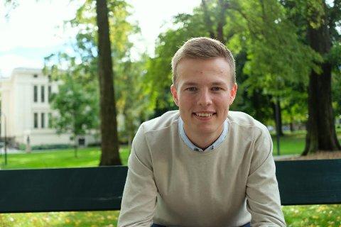 ANDREPLASS: Hadle Rasmus Bjuland er innstilt som nummer to frå Rogaland KrF til neste års stortingsvalg.
