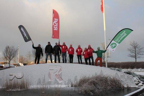 AKTIVE ANSATTE:  Svein Bø (f.v.), Svein-Erik Pihl, Roy Borlaug (Rental.one), Vidar Skarås, Lise Underhaug, Kirsten Risa, Vivian Nærland, Bjørn Risa (Risa AS) og Arve Runarson Bø (Bjørn`s Hage & Anlegg) er engasjerte i konsernets aktivitetskampanje.