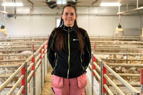 ENGASJERT: Magnhild Aanestad har stor lidenskap for arbeidet hun gjør. Nå som Norsvinskulen kommer til Rogaland, vil hun tilegne seg enda mer kunnskap.