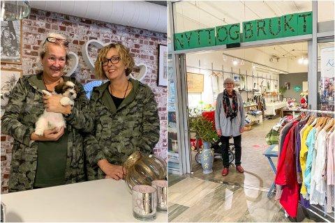 KREVER ENDRING: Nina Tungland ved Nito- nytt & brukt reagerer på pop-up butikken som har dukket opp på Jærhagen.