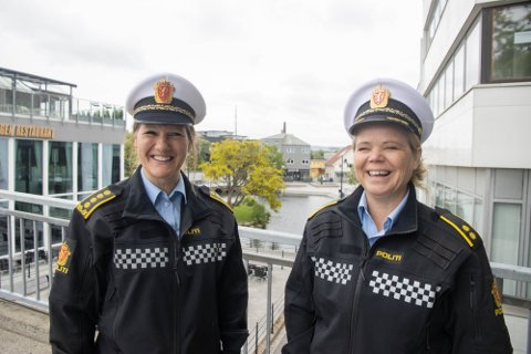 TRYGT: Bryne sentrum skal være trygt for ulike aldersgrupper som ønsker å gå på pub eller spise på restaurant, sa Siri Fisketjøn Indrebø (t.v) og Elfrid Vestbø i juni.