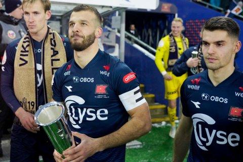 CUPMESTER: Viking er fremdeles regjerende norgesmestere, etter at de slo Haugesund i cupfinalen på Ullevaal desember 2019. Søndag møter de Staal Jørpeland i cupen.