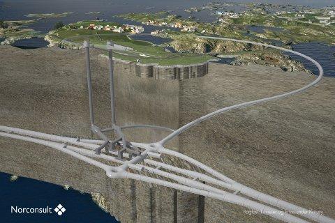 ROGFAST: Eit tverrsnitt av det planlagde tunnelsystemet Risa AS skal vera med på å byggja.