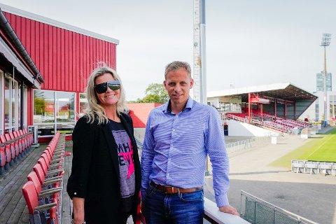 INSPIRERTE: Kate Mariann Lie og Håkon Oma er svært fornøyde med første samling på Haalandakademiet.