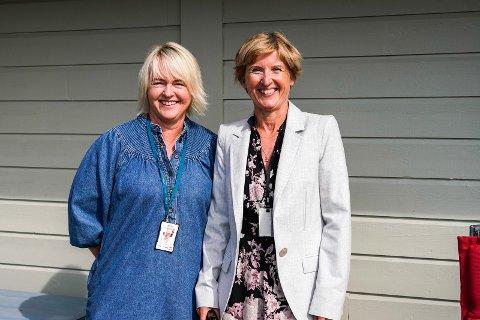 STÅR PÅ: Gry Kirsti Sirevåg og Britt Ellinor Scott har stått i bresjen for å endre i måltidene på sykehjem i Time kommune. De er svært fornøyd med restulatet som skal gi mange helsefordeler.