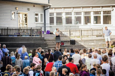 FULLT: Ekeberg skole er ved kapasitetsgrensen, samtidig som store boligprosjekter i nabolaget nærmer seg byggestart.