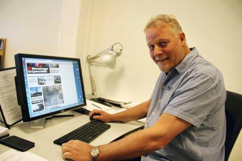 BEDRE PÅ NETT: Redaktør Pål Nordby ser at fallet i antallet papirlesere mer enn kompenseres av at stadig flere vil lese Jarlsberg digitalt.