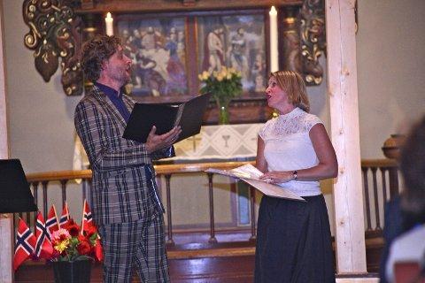 GOD KOMBO: Jan Tore Saltnes i en fantastisk duett sammen med May Britt Forseberg Hovdenak.