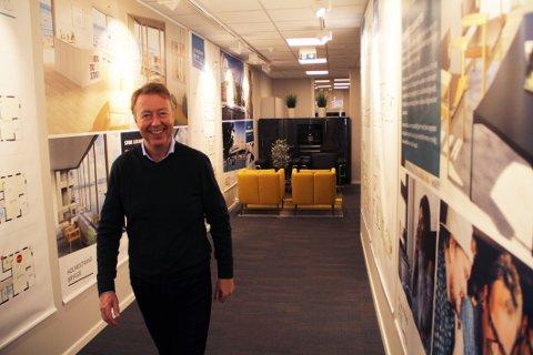 GLAD: Onsdag ble Holmestrand Brygge-prosjektet lansert på markedet. Holmestrand Utvikling-leder Øistein Hjelmtvedt formelig strålte over salgsstarten.
