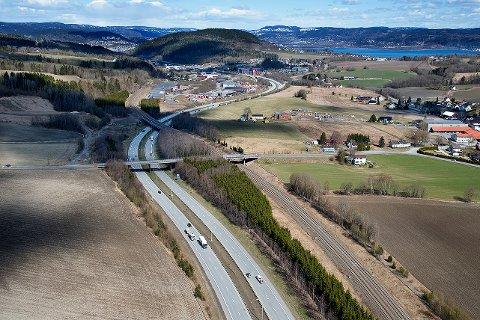 KOBBERVIKDALEN: Bane Nor  skal nå etablere ny trase med dobbeltspor for Vestfoldbanen på strekningen Drammen-Kobbervikdalen.