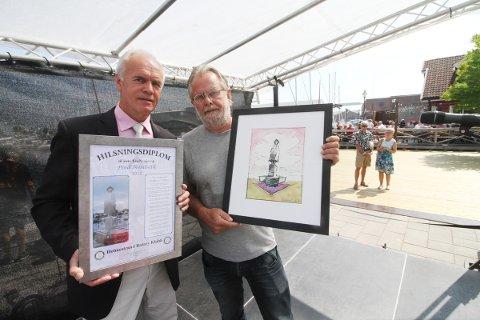 Fred Nordseth ble Æresnysgjerring i 2018. Prisen ble delt ut av Rotaryklubbens president Svein Otto Schjerven. I år blir det ingen utdeling.